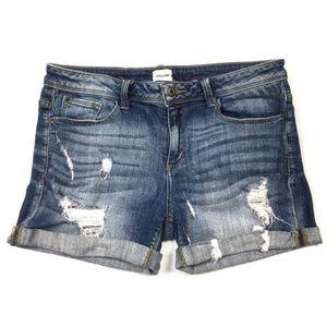 🍁 Sneak Peek Distressed Denim Boyfriend Shorts